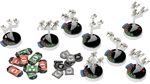 Star Wars Armada Rebel Starfighter Ships